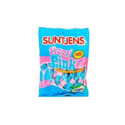 Suntjens Fizzy Pink Kauwgum Smaak (Zuur) 400 Gram