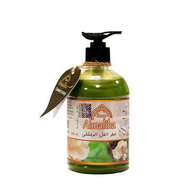 Al Malika Natuurlijke Zeep Van Bloem Olie Met Hand Pomp 500 ml