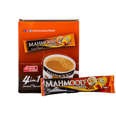 Mahmood Oploskoffiezakjes 4 in 1 (koffie, melk, suiker & Caramel) 24 Stuks