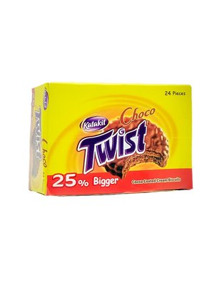 Katakit Cacao Coated Twist Biscuits 24 Stuks
