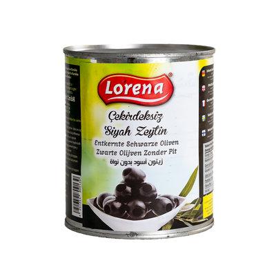 Lorena Zwarte Olijven Zonder Pit 850 Gram