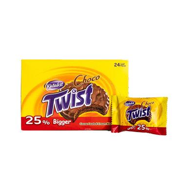 Katakit Cacao Gecoate Twist Biscuits 24 Stuks
