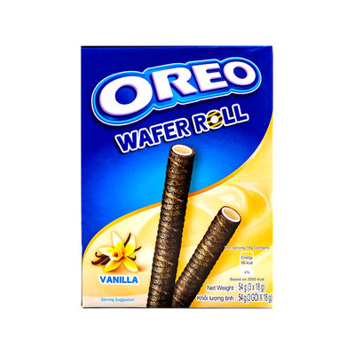 Oreo Wafer Roll Vanille 54 Gram