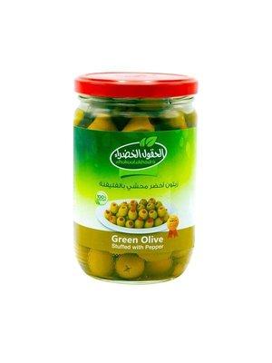 Al Hokool Al Khadra Groene Olijven Gevuld Met Paprika 600 Gram