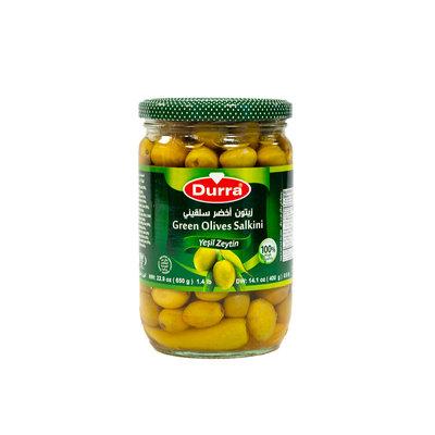 Durra Kleine Groene Olijven Salkini met Pit 650 Gram