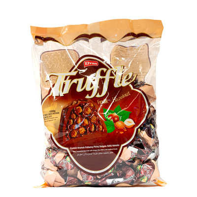 Elvan Truffle Bonbon Chocola met Hazelnootvulling 1KG