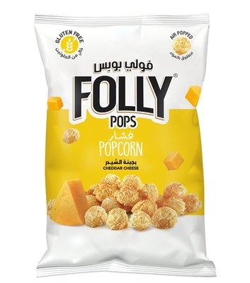 Folly Pops Popcorn Cheddar Kaas 40 Gram