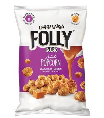 Folly Pops Popcorn Karamel & Zeezout 40 Gram