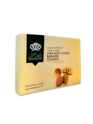 Daoud Brothers Barazek & Ghraybeh & Ma'amoul (Midden-Oosterse Koekjes) Mix 350 Gram