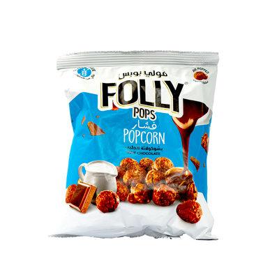 Folly Pops Popcorn Melk Chocolade 40 Gram