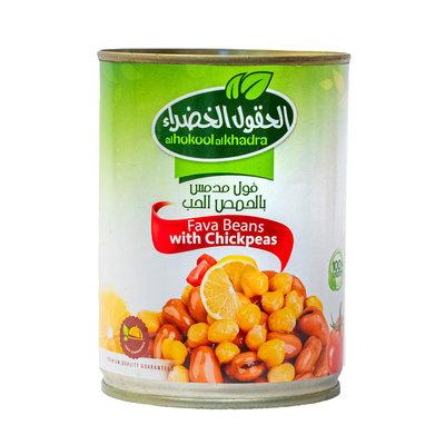 Al Hokool Al Khadra Gekookte Bonen met Kikkererwten 400 Gram