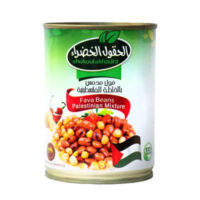 Al Hokool Al Khadra Gekookte Bonen met Chilipoeder volgens Palestijnse Recept 400 Gram