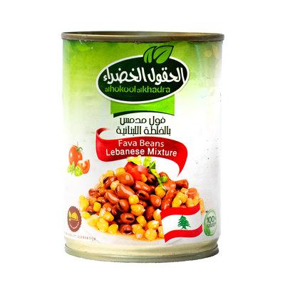 Al Hokool Al Khadra Gekookte Bonen met Kikkererwten volgens Libanees Recept 400 Gram