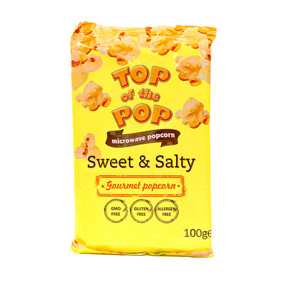 Top Of The Pop Magnetron Popcorn Sweet & Salty 100 Gram