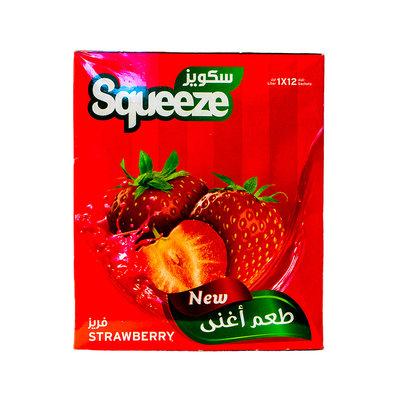 Squeeze Poedersap Aardbei 12x35 Gram