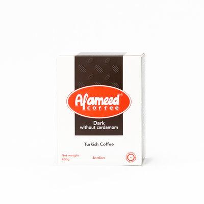 Alameed Gemalen Arabische koffie zonder Kardamom 200 Gram