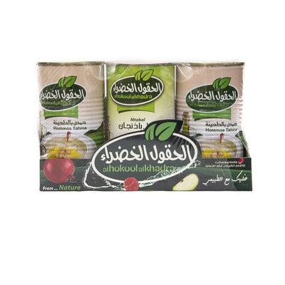 Al Hokool Al Khadra 2x Hummus met Tahini & Baba Ganoush met Tahini 3x370 Gram
