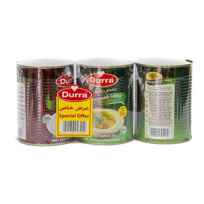 Durra Hummus Tahini & Baba Ganoush 3x370 Gram