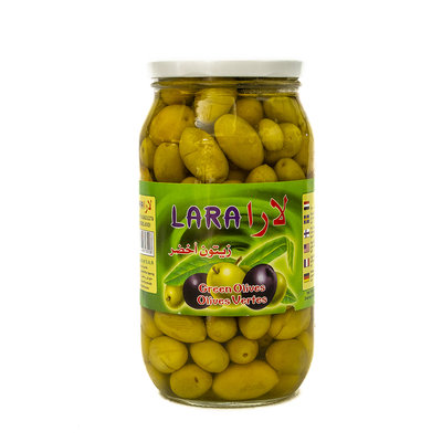 Lara Groene Olijven met Pit Halabi 950 Gram