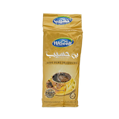 Haseeb Gold Gemalen Arabische Koffie Super Extra Kardamom 200 Gram