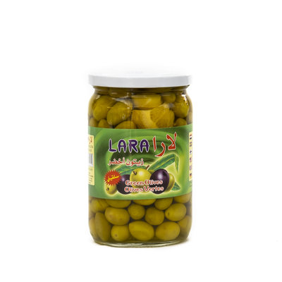 Lara Kleine Groene Olijven Salkini met pit 600 Gram