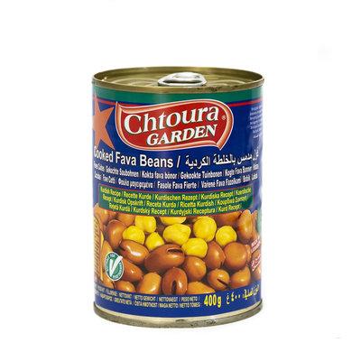 Chtoura Garden Gekookte Bonen met Kikkererwten volgens Koerdies Recept 400 Gram