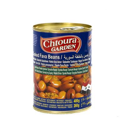 Chtoura Garden Gekookte Bonen met Komijn en rode Pepers volgens Syrisch Recept 400 Gram