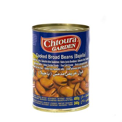 Chtoura Garden Gekookte Grote Bonen (bajella) met Citroenzuur 400 Gram