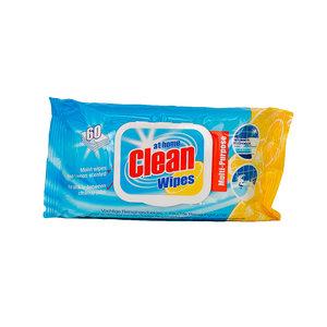 At Home Clean Vochtige Reinigingsdoekjes (Citroen) 60 Stuks voorkant