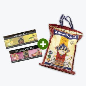 Mahmood rijst 5 KG met gratis 50 zakjes Aardbeienthee en Gemberthee