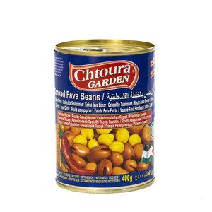 Chtoura Garden Gekookte Bonen met Chilipoeder volgens Palestijnse Recept 400 Gram voorkant