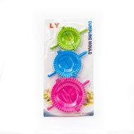 LY Stampo Halve Maan Dumpling/Ravioli Vormen 3 Verschillende Formaten